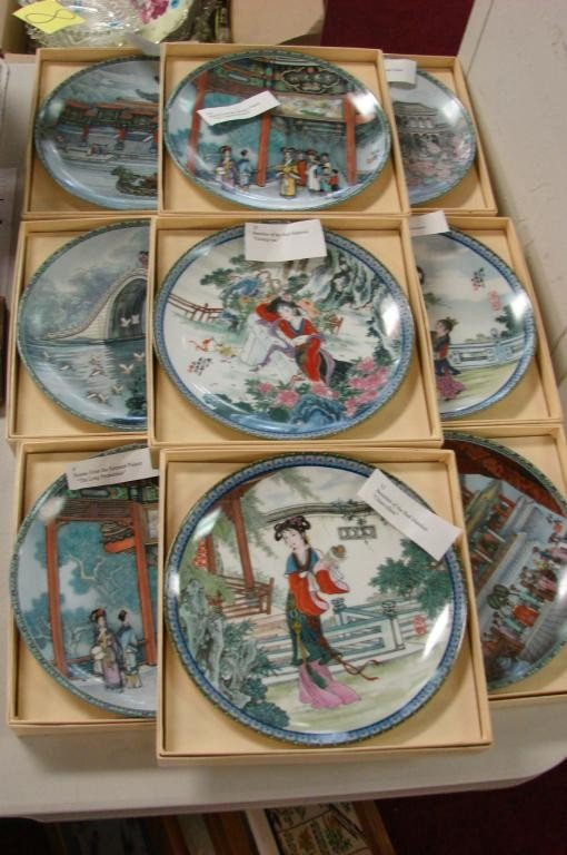 4: 16 Collector Plates: 10 Chinese & 6 Grimm Fairy Ta