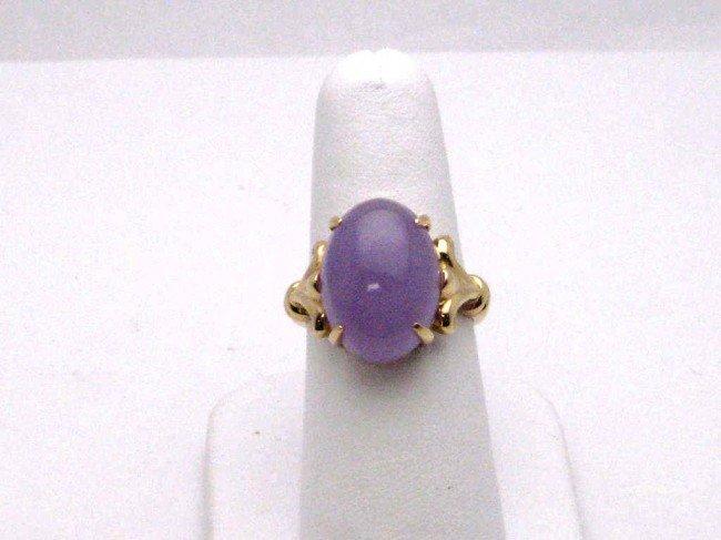 5: 14kyg Purple jade ring
