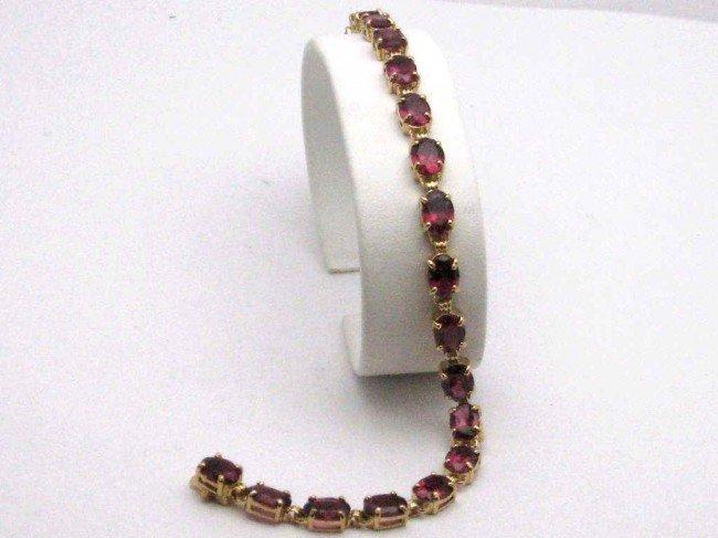 6: 14kyg rhodelite garnet bracelet