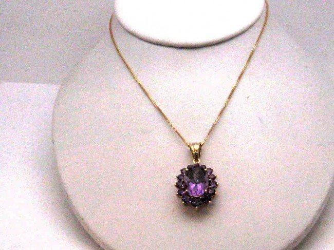 11: 14kyg amethyst pendant with chain