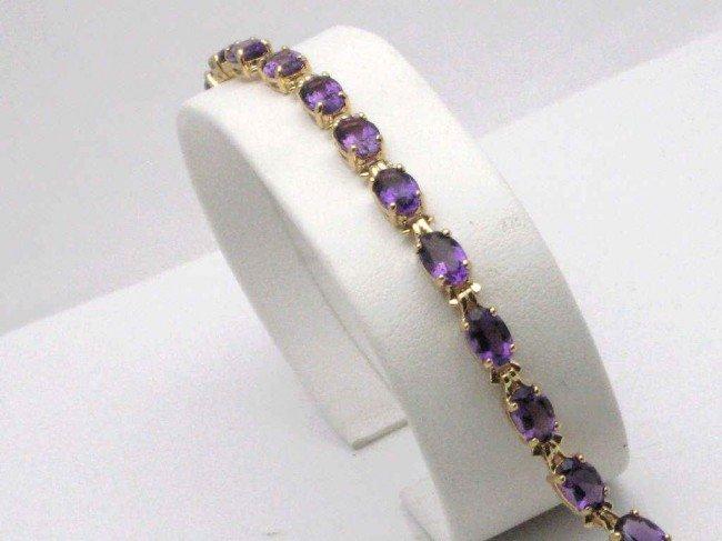 "12: 14kyg amethyst bracelet 71/4"""