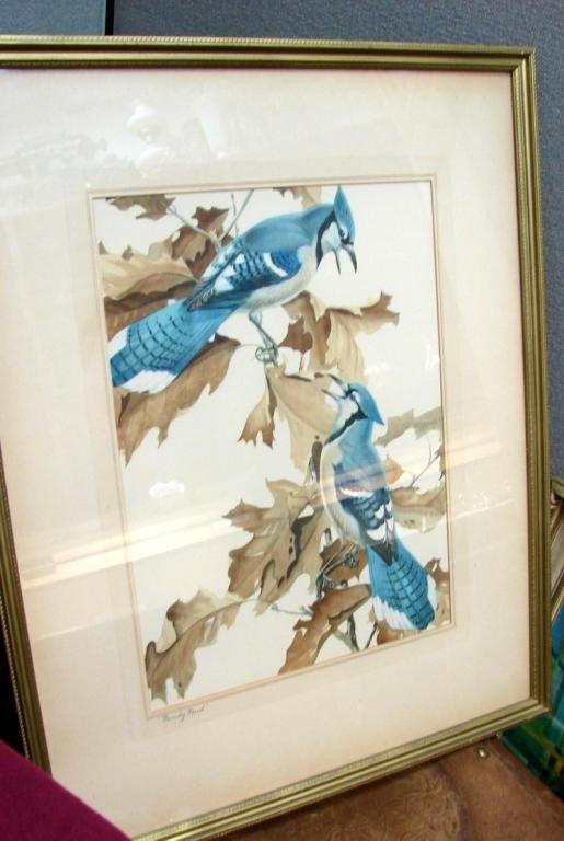 "17: Pair of Bird Prints - Framed under Glass 21"" x 25"""