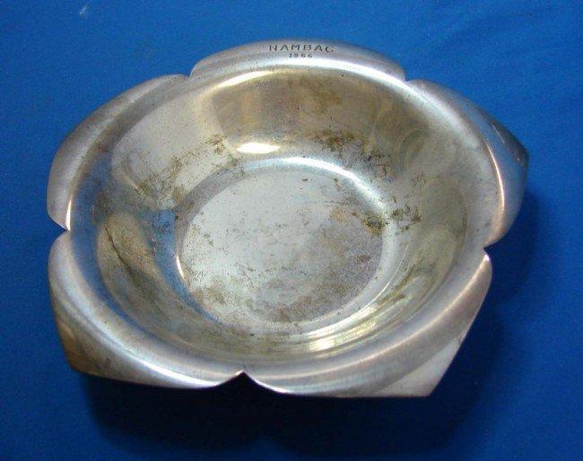 "14: Tiffany Sterling Flower Form & 9"" Sterling Bowl"
