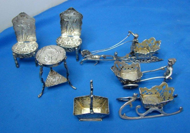 16: 7 German 800 Silver Miniatures