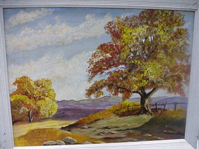65A: Original Oil by Robert Emmett Owen - Autumn Scene