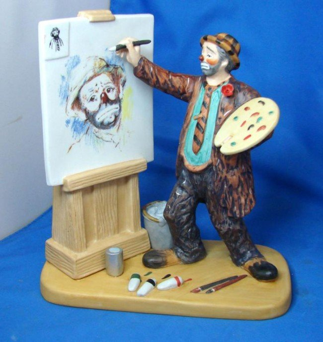 1A: Emmet Kelley Figurine from Original Circus Collect