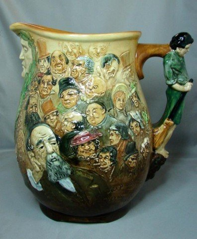 "174: Royal Doulton Dickens Dream Jug, 10.25"" tall, exce"
