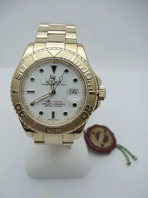 97A: Man's 18kyg Rolex Yachtmaster watch