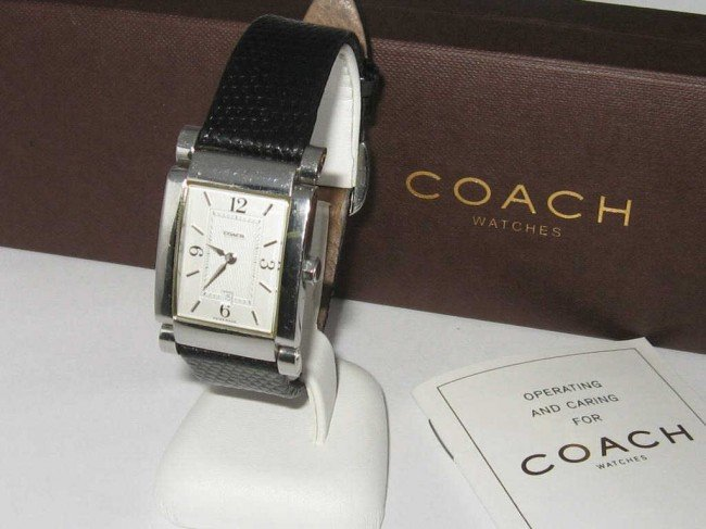 6: Stainless Coach watch
