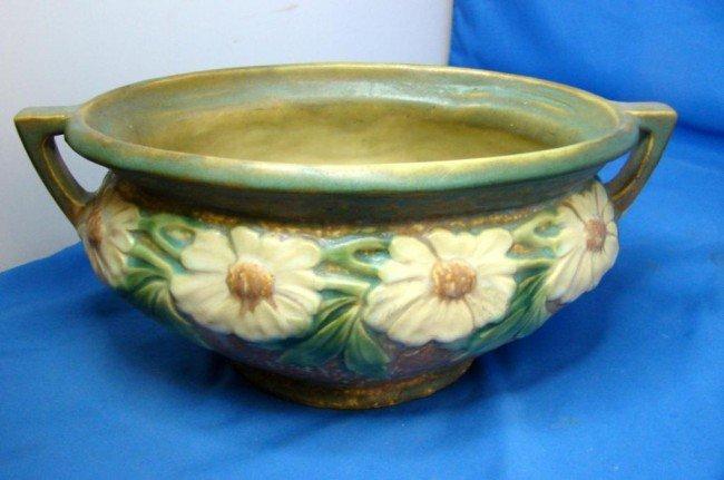 7: Vintage Roseville Dahlrose Oval Bowl