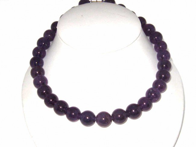 15: Amethyst necklace in sterling silver