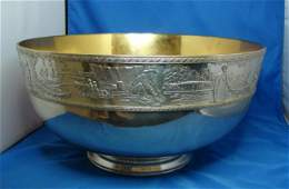 29: Franklin Mint Bicentennial Bowl Sterling Silver.