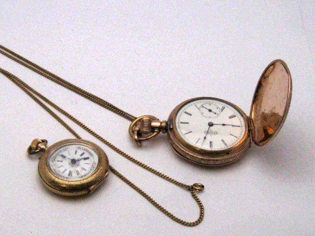 4: 14kyg Locle pocket watch & Elgin