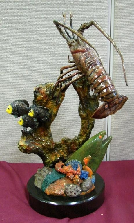 127: John Townsend Sea Life Bronze -ONE OF A KIND