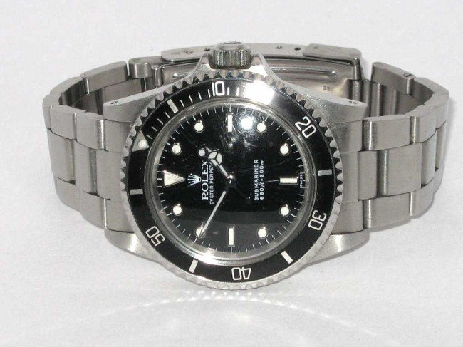 13B: Stainless Rolex Submariner black