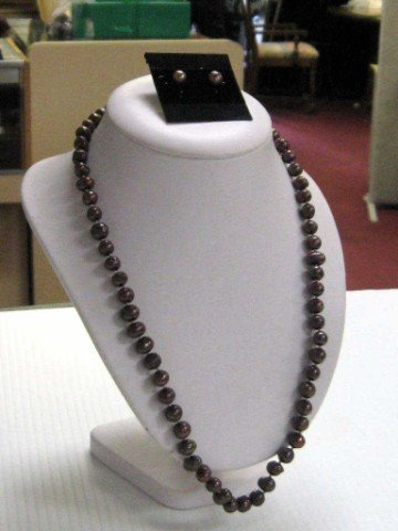 6: Chocolate freshwater pearl necklace