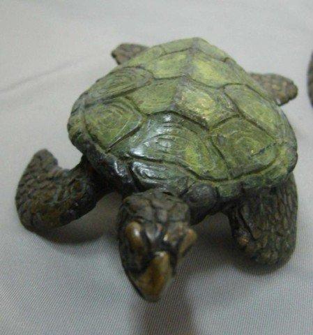 14: 3 Bronze Turtles - Marine Life Artist Jim Crawford - 3