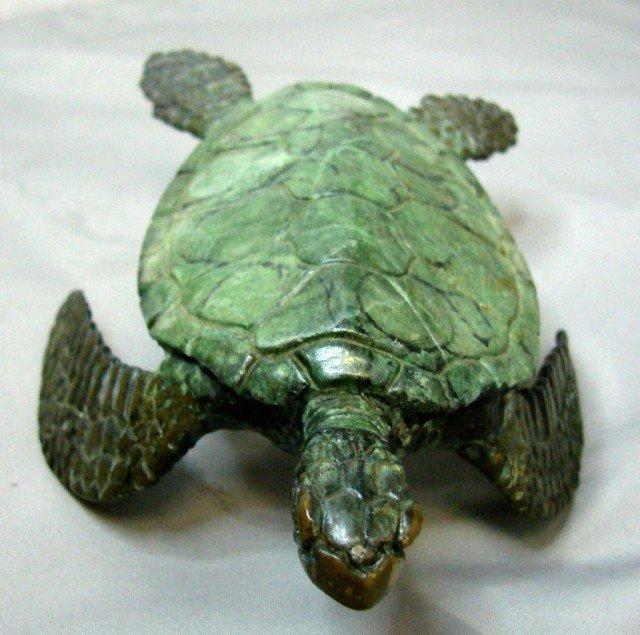 14: 3 Bronze Turtles - Marine Life Artist Jim Crawford - 4