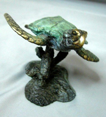 14: 3 Bronze Turtles - Marine Life Artist Jim Crawford - 5