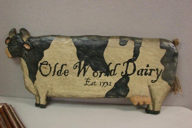 3: Olde World Dairy Cow Wall Hanging