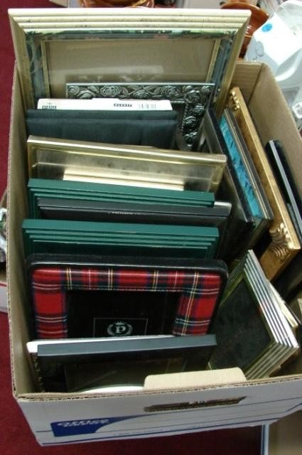 17A: 30 Assorted Picture Frames & Back Massager