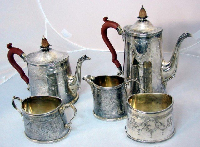 201: Tiffany Sterling Silver Tea & Coffee Service