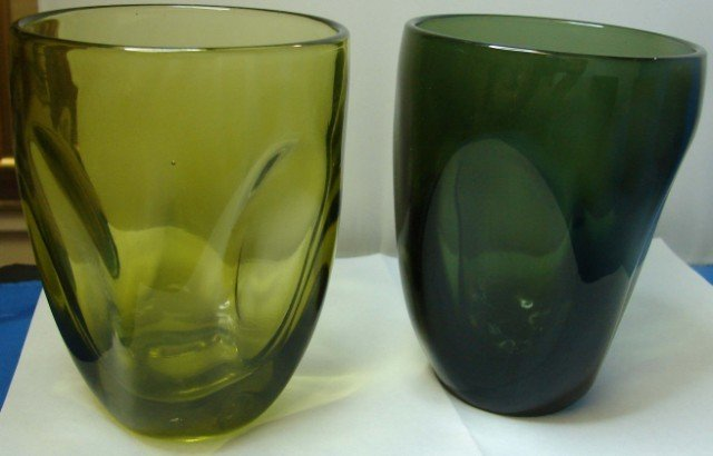 211: 5 Russel Wright Imperial Glass Co. Pinch glasses - 2