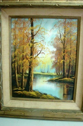 226: Original Oil Painting - Fall Scene, signed Edwards - 2