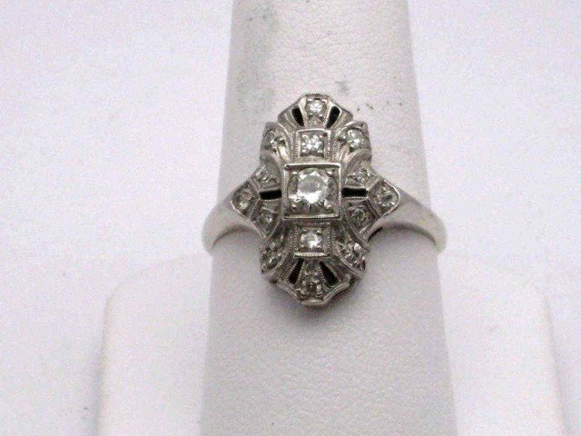 4: Vintage 14kwg diamond ring .50ctw