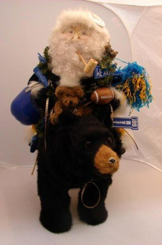 13: University of Michigan Mink Bear & Santa
