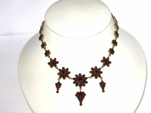 3: Vintage Victorian garnet necklace