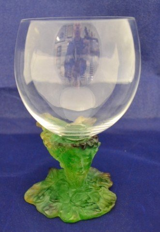5A: Daum Art Glass wine glass