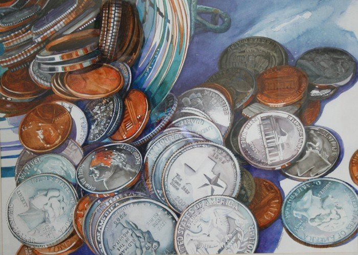 """510: Out of the Jar...Loose Change"""" by  Janet Mach Dutt"""