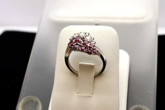 11A: Ruby & diamond ring in platinum