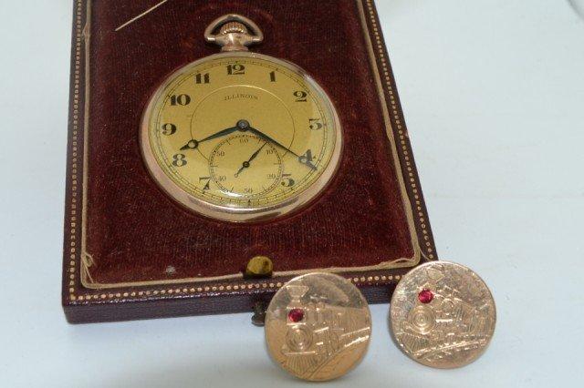 17A: Illinois pocket watch with cufflinks