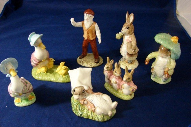 8: 7 Beatrix Potter Figs Mr. McGregor, Benjamin Bunny
