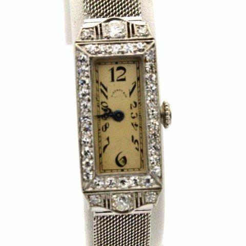 185: Lady's platinum diamond watch Tiffany & Co