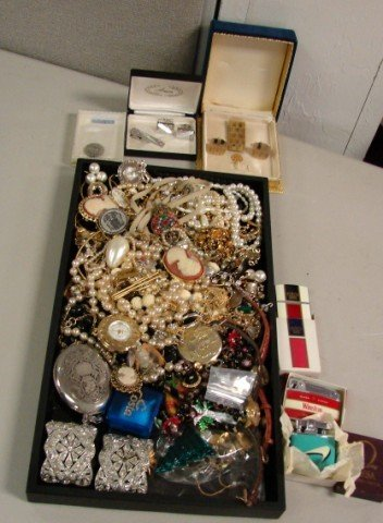 1: Huge lot of assorted costume jewelry