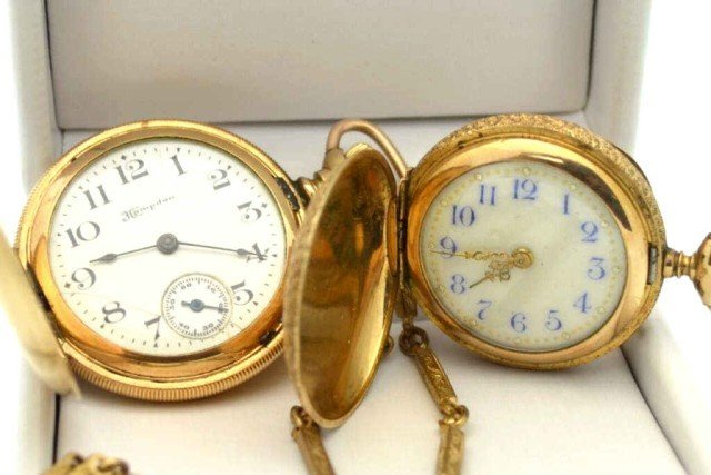 5: 2 pocket watches, Hampden & ?