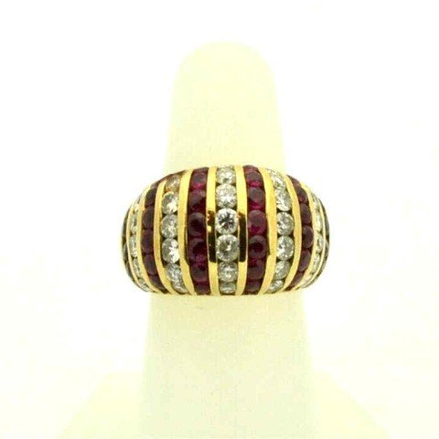 10: 14kyg ruby & diamond ring 1.50ctw