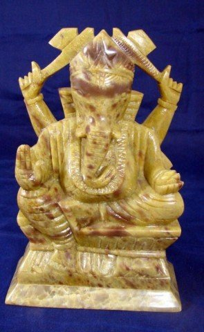 11: Hard stone Carved Hindu God Ganesha