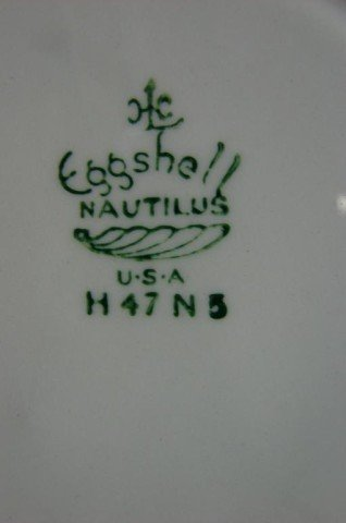 133A: Eggshell Nautilus China Svc. for 10 - 4