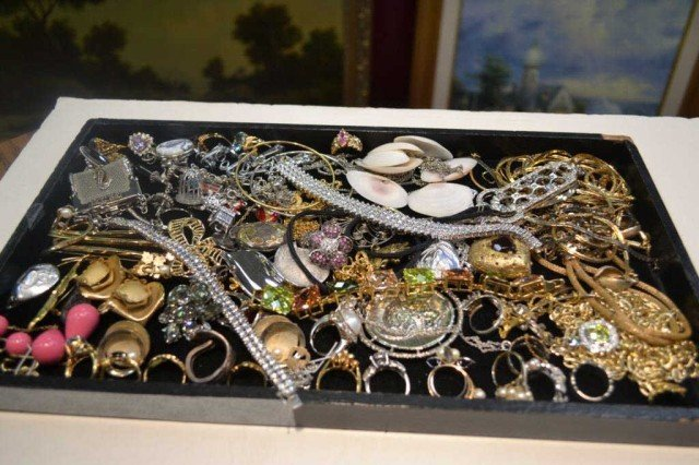 4: Lot of sterling & vintage costume jewelry