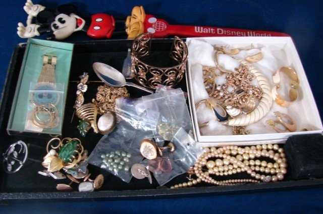 8: Lot of Costume Jewelry & Mickey Mouse