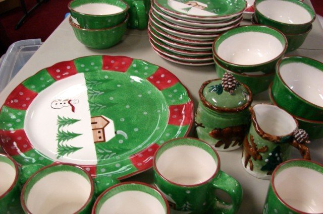 247 macy 39 s the cellar log cabin christmas dishes sv 8