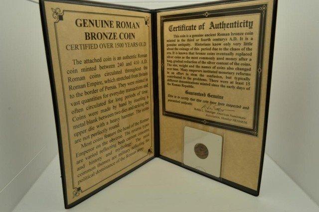8H: Genoize Roman Bronze Coin 240-410 AD