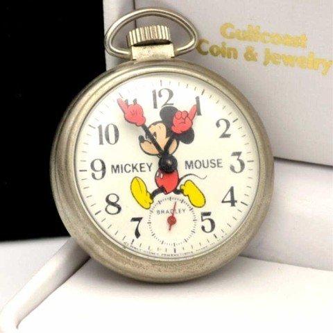 3: Vintage Bradley Mickey Mouse pocket watch