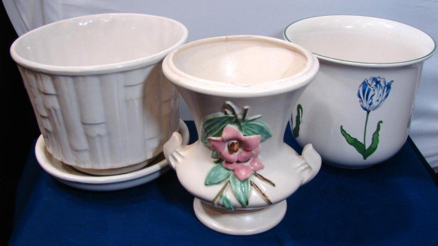 7: McCoy Cache Pot & Vase & Tiffany Cache Pot