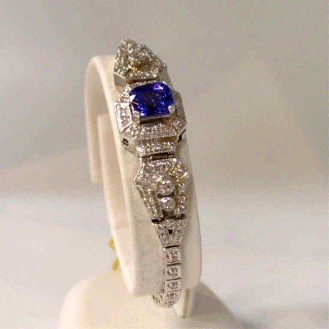 16A: 14kwg tanzanite & diamond bracelet