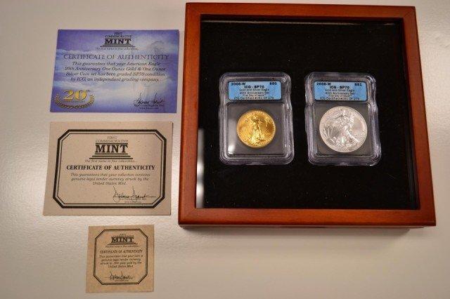 5G: 2006-W 20th Anniversary 2 Coin Perfect Set